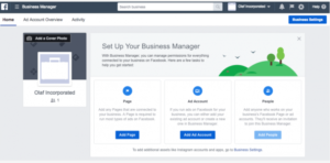 facebook manager sign in your business