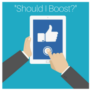 boost button facebook for your restaurant.