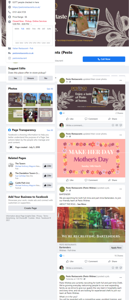 Facebook Ads For Restaurants and Takeaways